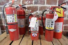 Lot of 24 Assorted Lot of Fire Extinguishers: Amerex, Kidde, Buckeye, & More