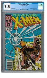 Uncanny X-Men #221 (1987) 1st Mister Sinister Newsstand CGC 7.5 HH325