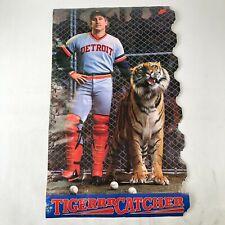 Vintage Original Lance Parrish NIKE Poster TIGERRR CATCHER MLB Detroit TIGERS