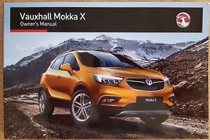 GENUINE VAUXHALL MOKKA X 2016-2021 OWNERS MANUAL DRIVERS HANDBOOK