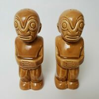 Trader Vics Salt & Pepper Shakers Set Imperial Imports Brown Japan