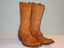 1990's Unknown Brand Brown Leather Western Style Boots Usa Made Men's Size 10 D