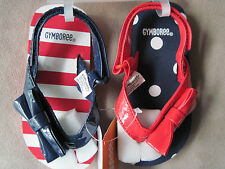 Nwt Gymboree Girls Red, White & Blue Patroitic Bow Flip Flop Shoes Size 5-6