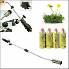 More details for gas burner blaster weed wand blowtorch garden torch weeds killer + 4 gas cans