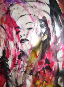 MR CLEVER ART THIS IS WHERE YOU FIND IT ABSTRACT PAINTING contemporary pop deco