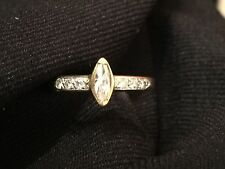 One Of A Kind 18k White & Yellow Gold Diamond Engagement Ring (0.38 cts)