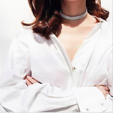 Women Crystal Rhinestone Choker Necklace Jewelry Gift Gothic Punk Collar 90s Sex