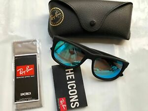 Ray-Ban Justin RB4165 Sunglasses Black 622/55 Blue Flash 54mm