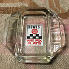 BOWES SEAL FAST WE FIX FLATS ADVERTISING GLASS ASHTRAY