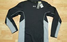 Under Armour Men's L Cold Gear Compression Long Sleeve Shirt  Black/Gray NWT