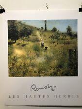 FINE ART LITHOGRAPH: LES HAUTES HERBES BY AUGUST RENOIR 20 x 24
