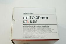 Canon EF 17-40 f/4L lens BOX ONLY (EMPTY BOX ONLY) NO Inserts