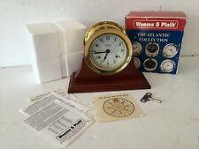 New listing Weems & Plath Atlantis Brass 8 Day Ships Bell German Clock With Key