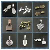 Antique Tone Alloy Glue On Bail Charm pendant Hot Sale Jewelry Making Hot