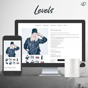 LEVELS BLACK | Template 2020 RESPONSIVE Auktionsvorlage Ebayvorlage Vorlage HTML