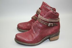 AS 98 Burgundy Ankle Boots Shoes Booties Size 41