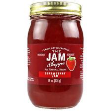 The Jam Shoppe All Natural Strawberry Jam 19 oz Handcrafted Real Fruit Recipe