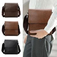 Men Leather Messenger Bags Shoulder Bag Crossbody Satchel Handbag Briefcase Bag