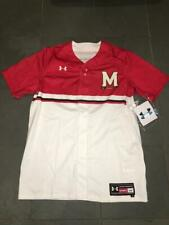 RARE NEW 2019 MARYLAND TERPS #11 Under Armour Baseball Jersey sz LARGE