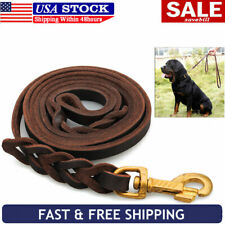 Braided Genuine Leather K9 Pet Dog Training Leash Leads Best for German Shepherd
