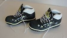 TIMBERLAND KIDS BOOTS / SHOES BLACK & WHITE W/ CELL PHONE DESIGN SIZE 4 1/2