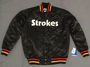 NWT LARGE THE STROKES FUTURE PRESENT PAST STARTER JACKET POP UP SHOP NYC RARE