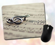 Music ~ Treble Clef, Notes, Sheet Music, Blurred, Gift, Decor ~ Vivid Mouse Pad