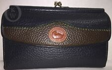 Vintage*DOONEY & BOURKE*Leather*Navy*W74*Teton Organizer Checkbook Wallet*16318L