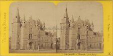 Hôte de ville de Fécamp France Photo Stereo BK Paris Vintage Albumine ca 1870
