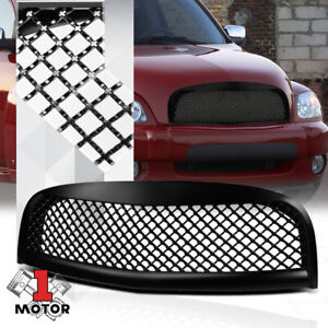 For 2006-2011 Chevy HHR Non-SS{3D WAVE MESH}Matte Black ABS Bumper Grille Grill