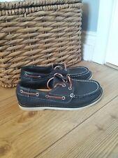 Boys Timberland earthkeepers Classic Navy Leather Boat Shoe  UK 1