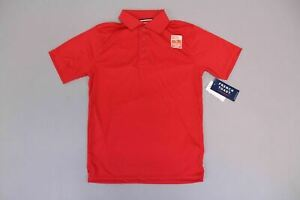 French Toast Boy's Short Sleeve Moisture Wicking Polo CB4 Red Large NWT