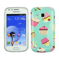 Schutzhülle f Samsung Galaxy S Duos S7562 Tasche Case Cover Cupcake Muffin