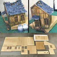1/35 Zerstörte Europäische Holzhaus Kit DIY Szenario Militärisches Gebäudemodell