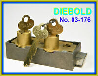 DIEBOLD 03-176 SAFE DEPOSIT BOX LOCK - INCLUDES THREE FLAT KEYS - QUALITY ITEM