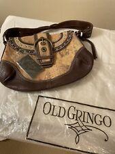 Old Gringo ~ 'Leopardito' ~ Women's Ochre ~ Brown/Tan Leather Handbag ~ Euc