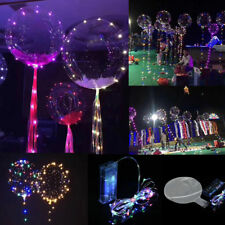 """Christmas decoration led string light with transparent helium balloons 18"""" New"""