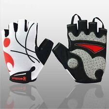 New Men Cycling Gloves Bike Half Finger Gel Silicone Fingerless Sports