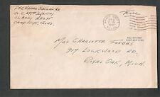 WWII cover Pfc Walter Sobczak Jr 379 Inf APO 95 Camp Swfft TX to Royal Oak MI