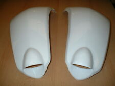PAIR OF WHITE REAR WHEEL FENDERS PLASTICS AEON COBRA REVO ON ROAD QUAD ATV