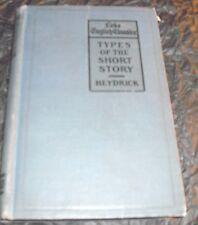 The Lake English Classics~Types of the Short Story~Benjamin A. Heydrick 1913
