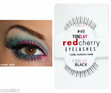 Lot 6 Pairs RED CHERRY #49 False Eyelashes Under Lash Fake Eye Lashes