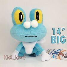 """Pokemon XY Plush Froakie Frog Soft Toy Stuffed Animal Doll Teddy 14"""" VERY BIG !!"""