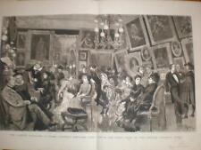 Comedie Francaise Green Room Theatre Francais Paris 1880