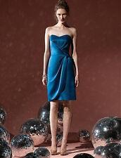 Dessy 8101...Cocktail length, Strapless, Satin Dress.....Ocean Blue...Sz 6