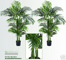 Two 4' Areca Artificial Tropical Palm Trees In Pot 504