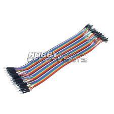 Arduino Macho A Macho Soldadura Dupont Jumper Protoboard Cables 40 Cable Pack