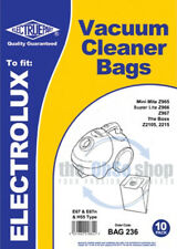 10 x ELECTROLUX MINIMITE & SUPERLITE Vacuum Cleaner Bags E67, E67N & H55 Type