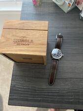 Shinola mens watch Blue Runwell 47mm Comes With Box