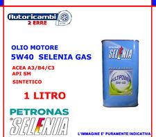 OLIO MOTORE AUTO METANO GPL 1LT SELENIA 5W40 GAS MULTIPOWER ACEA A3/B4/C3 API SM